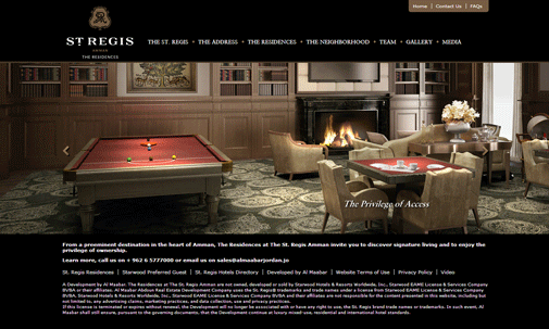 St. Regis Website